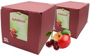 Bleichhof Apfel-Kirsch Direktsaft – 100% Direktsaft (2x 5l Bag-in-Box)