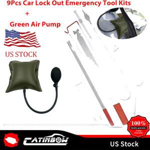 Car Door Open Tool Key Lock Out Emergency Tools Kit Unlock + Air Pump Universal