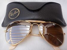 VINTAGE RAY BAN THE GENERAL GOLD RB50 LENSES US MADE B&L 58MM SUNGLASSES