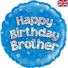 """HAPPY BIRTHDAY BROTHER 18"""" FOIL """"BALLOON IN A BOX"""" INFLATED"""