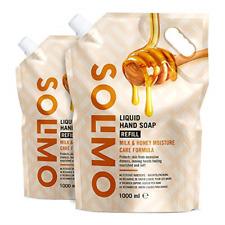 Marca de Amazon-Solimo Líquido Jabón de Manos-Recarga-Leche & Honey con miel natural