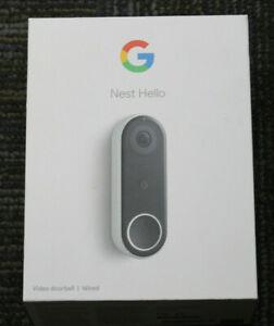 Google Nest Hello Wired New Unused Open Box