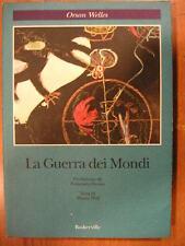 LA GUERRA DEI MONDI Orson Welles Baskerville 1° edizione 1990 testo inglese a fr