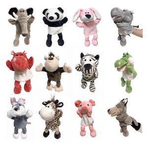 Animal Wildlife Hand Puppet Super Soft Plush Puppets Kid Children Toy UK STOCK
