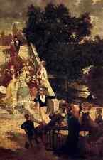 Métal signe monticelli Adolphe la Terrasse du Chateau de St Germain A4 12x8 yourself