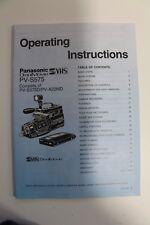 Panasonic PV-S575 OmniMovie S VHS Operating Instructions Manual Original