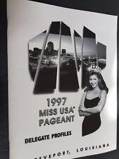1997  MISS USA PROFILE BOOK - RARE FIND