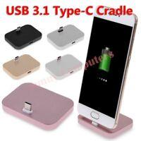 Type-C Dock Charger Charging Desktop USB 3.1 Cradle Station For Samsung S8 LG G5