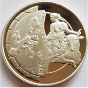 Belgium 🇧🇪 2004 Silver 10 Euro Coin Enlargement Of European Union Proof Unc