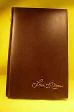VINTAGE 1981 LOUIS L'AMOUR LEATHERETTE HARD COVER SILVER CANYON-6 X 9 1/4""