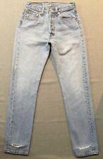 Women's Vintage Levi's 501 Jeans 27x32 High Waist Mom Jeans Button Fly USA Sz 25
