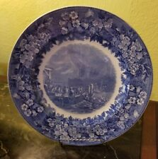 """Wedgwood Etruria The Boston Tea Party 10 3/8"""" plate blue - Made in England"""