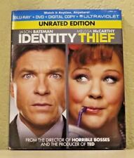 Identity Thief (Blu-ray/DVD/Digital Copy/Ultraviolet, 2013) Unrated Edition NEW