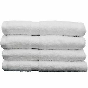 "4 Piece Hand Towel 28""X17"" Set 100% Certified Egyptian Cotton Giza 86 Premium Ho"
