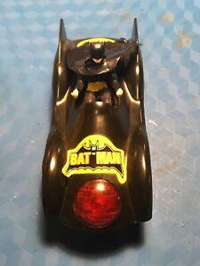 BATMOBILE-RARE-Polistil Batman & Penguin 1/43 Scale Slot Cars... Working...1979