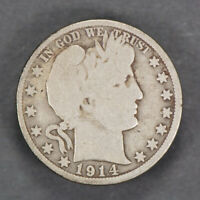 1914 50c BARBER HALF DOLLAR *KEY DATE COIN* LOT#J723