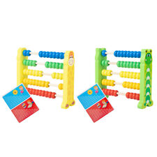 Cartoon Wooden Abacus Counting Frame Kids Montessori Math Educational Toys HOT