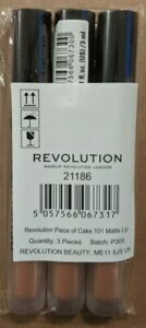 Revolution Makeup Piece of Cake 101 Matte Lip Gloss Pack of 3 New & Sealed