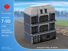 LEGO® Custom Modular Instructions - Apple Store with Apartment 01004