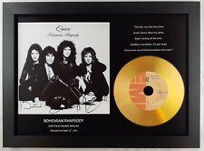 QUEEN 'BOHEMIAN RHAPSODY' SIGNED PHOTO GOLD DISC CD COLLECTABLE MEMORABILIA