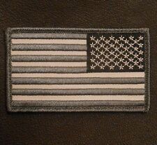 USA AMERICAN REVERSE FLAG TACTICAL MORALE SWAT VELCRO® BRAND FASTENER PATCH