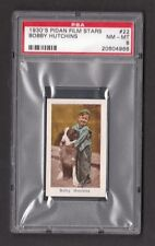 Our Gang Bobby Hutchins Rare 1930s Pidan Film Stars Card PSA 8 NM MT