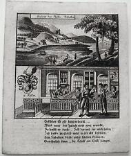 Bidasoa Bidassoa Fluß in Spanien Espania Schule seltener Kupferstich Zittau 1780