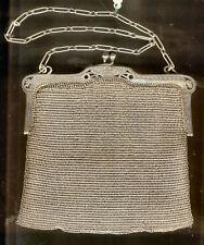 Bolso de plata 5 siglo XIX Malla completa @ EXCELENTE @