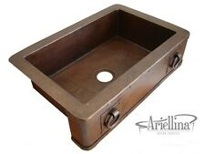 Ariellina Farmhouse 14 Gauge Copper Kitchen Sink Lifetime Warranty New AC1806