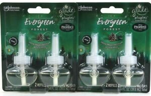 2 Glade PlugIns 1.34 Oz Disney Frozen 2 Icy Evergreen Forest 2 Count Oil Refills
