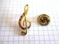 PINS RARE VINTAGE CLEF DE SOL NOTE DE MUSIQUE MUSIC wxc 33