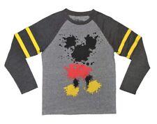 Disney Boy's Long Sleeve Crew Neck Mickey Mouse T-Shirt Size: XL (18-20)