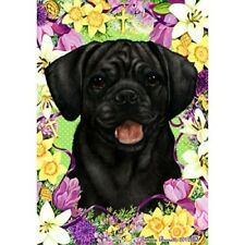 Easter Garden Flag - Black Puggle 332801
