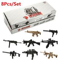 8PCS/Set 1/6 Scale 4D Gun Model Assembled Submachine KRISS Vector Weapon Kid Toy