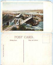 St Johns Suspension Bridge& Falls New Brunswick Canada circa 1910's Postcard