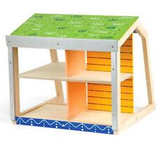 Pintoy Ökohaus Holz Öko-Puppenhaus Öko-Haus mit Voltaikanlage & Gründach Solar