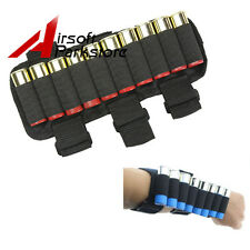 Hunting 10 Round Shotgun Shell Holder Ammo Carrier Pouch 12/20GA for Forearm Arm
