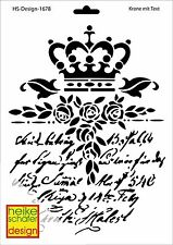 Schablone - A4 - Art.Nr. 028-1678  Krone mit Text - Heike Schäfer