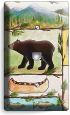 HUNTING CABIN MOOSE GRIZZLY BEAR PHONE TELEPHONE BEAR WALLPLATE COVER ROOM DECOR