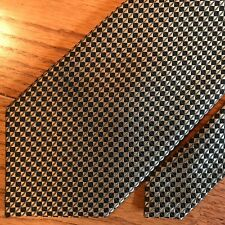 "BURMA BIBAS Men's Tie,100% Silk, 4"" x 56"",Geometric Dark Silver Black"