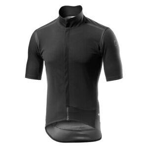 Castelli GABBA ROS Short Sleeve Wind/Rain Cycling Jersey BLACKOUT EDITION, LARGE