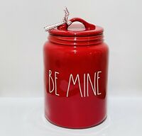 Rae Dunn Valentine By Magenta BE MINE Red Large Canister