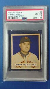 1949 Bowman #85 JOHNNY MIZE PSA 4 Name On Front New York Mets ~SC03-199