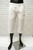 Pantalone Uomo PUMA Taglia Size 42 Tuta Bermuda Pants Man Corto Bianco Sport