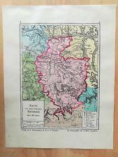 Oberamt Kirchheim Bauser Hand-Atlas KARTE von 1885 Weilheim Holzmaden Owen