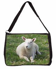 Lamb in Field Large Black Laptop Shoulder Bag Christmas Gift Idea Ash-12sb