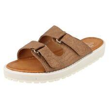 Sandalias y chanclas de mujer marrón sintético talla 38.5