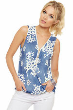 Geblümte Hüftlang Damenblusen,-Tops & -Shirts mit V-Ausschnitt für Freizeit
