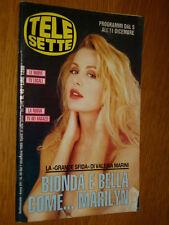 TELESETTE 1993/49=VALERIA MARINI=DREW BARRYMORE=VERONICA VISENTIN=MOVIE ALADDIN=