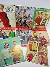 Vintage Knitting Books Bear Brand &  Fleisher Lot of 8 50's & 60's Many Patterns